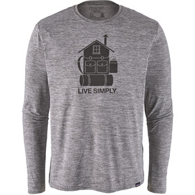Patagonia Cap Cool Daily Graphic Langærmet T-shirt Herrer, live simply home/feather grey